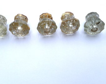 Pile of old Glass knobs
