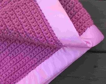 New Item--Rose Pink Baby Blanket