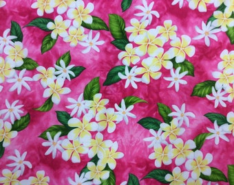 New! Hawaiian Print In Cotton ( Yardage Available)