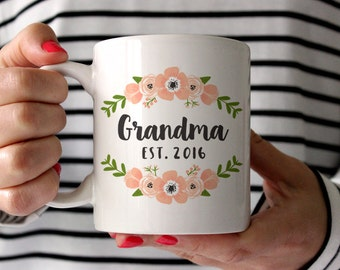 New Grandma Gift Pregnancy Announcement Grandma Mug Grandma Pregnancy Announcement Grandparents Pregnancy Reveal Grandma Coffee Mugs