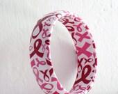 Breast Cancer Awareness Bracelet - Pink Ribbon Bracelet - Susan G Komen 3 day - Breast Cancer Awareness Jewelry - Pink Ribbon Jewelry