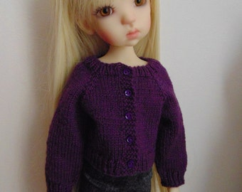 Pattern to Knit Kaye Wiggs Miki, Mei Mei MSD BJD size Sweater