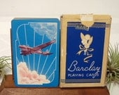 Airplane Playing Card Deck Barclay Vintage Art Deco Sky