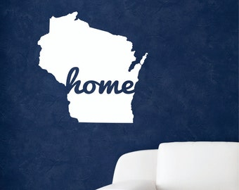 State Wall Decals, Home wall decal, Home state wall decal, Home decal, Home State, State Home, State wall decor