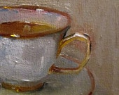 Original still life daily oil painting Cup Art by Delilah