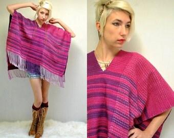 Fringe Poncho  //  Blanket Poncho  //  RAYA