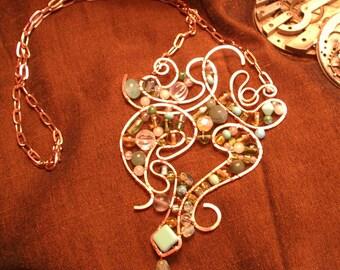 Copper Wirework Necklace