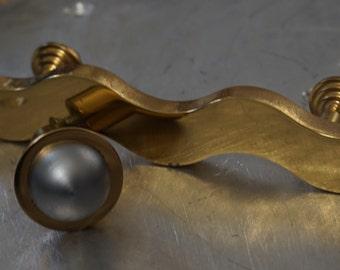 Modern Cabinet Brass Pull & Knob  / Hardware Lot H5