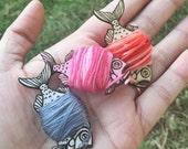 Embroidery Floss Bobbins - Fish - Cute Bobbins - Set of 5 - Craft Organization - Needlework Organizer