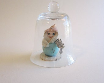 """small glass dome, glass cloche - 3.75"""" tall - dome only"""