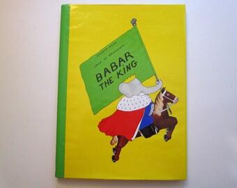 vintage book - BABAR  the KING - circa 1986 - Jean de Brunhoff - hardcover w/DJ