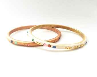 I LOVE YOU Secret Message Morse Code Bracelet in either Copper or Gold
