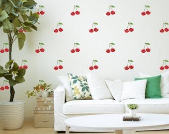 Vinyl Wall Sticker Decal Art - Cherries