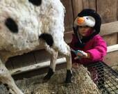 RESERVED FOR Shelda only Coopin's VIRGIN Jacob Sheep fleece