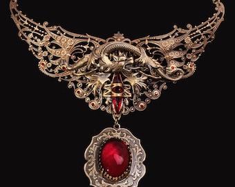 Dragon Pendant Necklace Dragon Pendant Dragon Necklace
