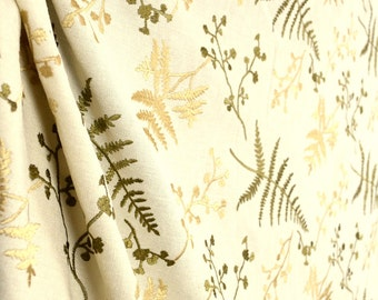 Luring Birch Embroidered Contemporary Floral Fabric