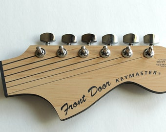 Guitar Rack, Guitar Head Key Rack, Guitar Gift, Key Rack