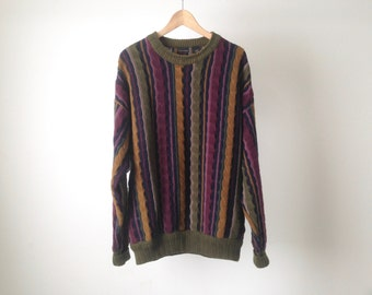 COOGI style dimensional 80s 90s sweater made in ITALY