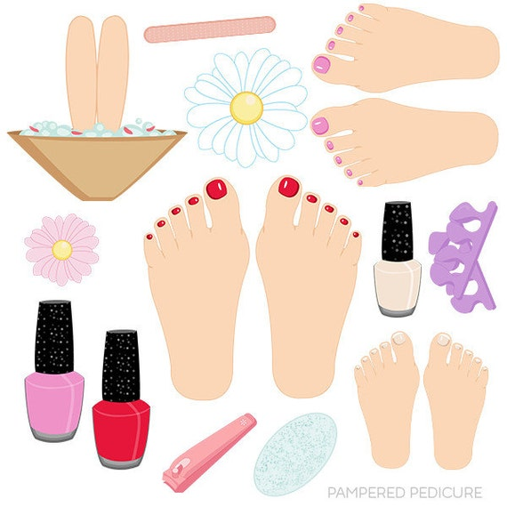 pampered pedicure cute digital clipart commercial use ok rh catchmyparty com pedicure clipart free manicure pedicure clipart free