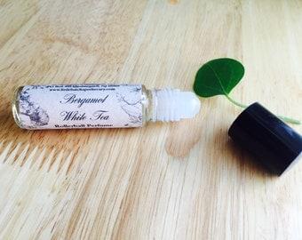 Bergamot and White Tea Perfume Oil, vegan perfume, roll on perfume, bergamot perfume, perfume, fresh perfume