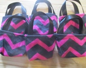 Doll Party Favors, 6 chevron doll purses for American Girl 18 inch dolls