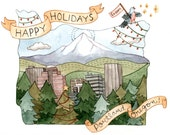 Oregon Christmas Card