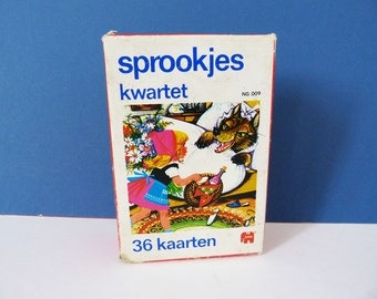 1970's - 80s  Picture story card game  Sprookjes Dutch
