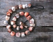 Raised from ashes - pit fired ceramic beaded necklace - ready to ship