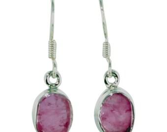 Pink Tourmaline Sterling Earrings