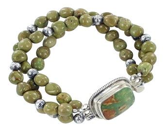 Green Valley Turquoise Bracelet 3 Strand