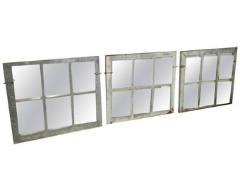 Industrial Steel Windows as Triptych for the Wall