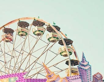 carnival art toddler girl room pastel wall art ferris wheel pictures nursery photography girl nursery art nursery decor carnival decor