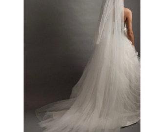 Veil With Comb, Crystal Bridal Veil,Bridal Crown Veil,Wedding Crown Veil,Cathedral Wedding Veil,Cathedral Bridal Veil, Cathedral Length Veil