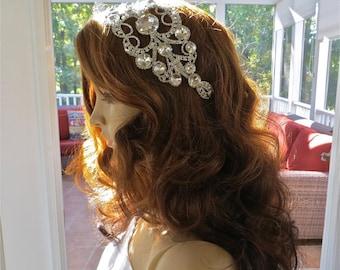 Silver Wedding Comb, Wedding Hair Comb