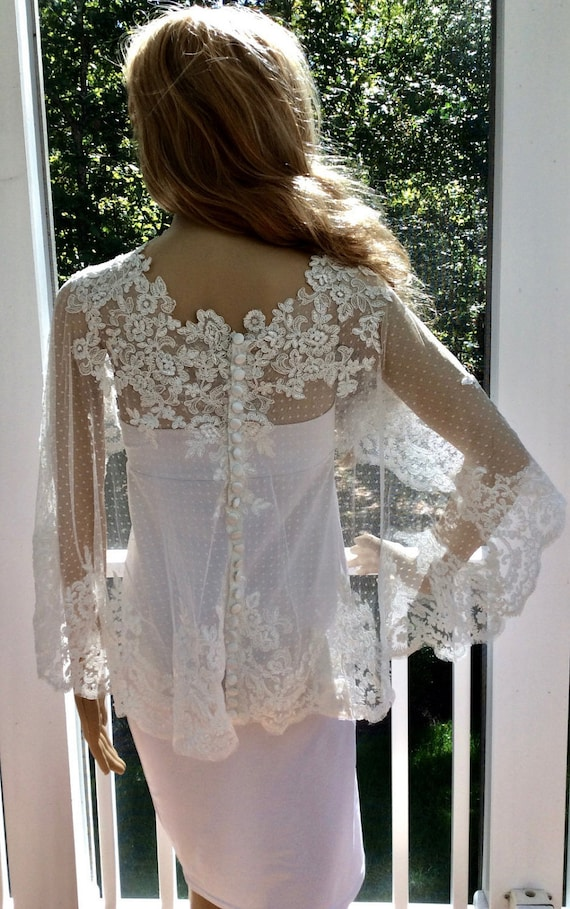 Lace cover up wedding cover up bridal cover up white cover for Cover up wedding dress