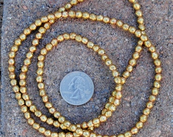 African Brass Bicone Beads: (4x4mm)