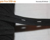 """ON SALE 10% off 1 or 4 yards BLACK buttonhole button hole maternity adjustable sewing elastic 5/8"""""""