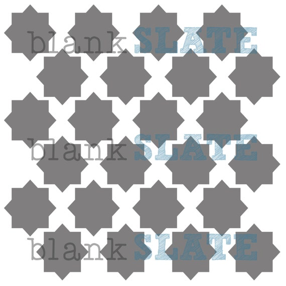 Moroccan Star Stencil - 8x8