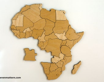 Africa Map Puzzle - Birch Plywood