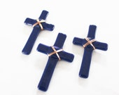 GLASS POCKET CROSS - Baptism Favors, Wedding Favors, Cross Favors, Quinceanera Favors, Fused Glass Cross, Christian Favor, Small Glass Cross