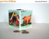 MOTHERS DAY SALE Country Farm Wood Bank - Kids Piggy Bank