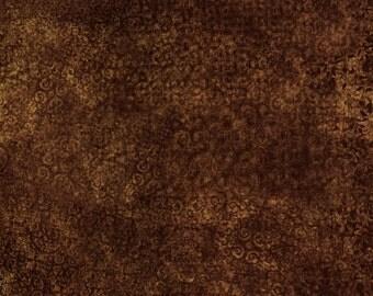 Espresso Brown Blender - Scrollscapes from Quilting Treasures - Full or Half Yard Brown Scrolls, Celtic, Elegant Blender