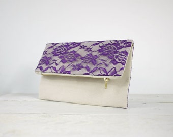 Purple lace purse | Purple lace clutch | 10 colors available!!! | Bridesmaid Gift | Bridesmaid purse