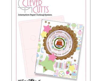 Stampers Anonymous Clever Cuts LAYERED CIRCLE Card Template Stencil See Project Ideas