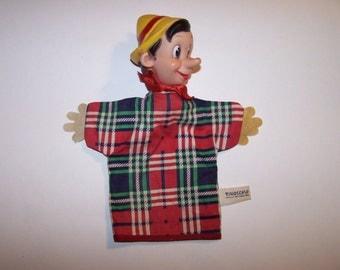 Disney's Pinocchio hand puppet vintage