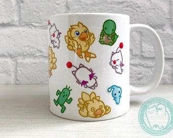 Final Fantasy Mascot Mug - Chocobo Cactuar Moogle