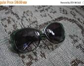 SHOP CLOSING SALE Vintage Dark Green Sunglasses Big Mod Round 1960s style Jackie O