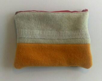 Wool Zipper Pouch, Medium Size