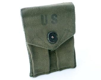US Military Pistol Magazine Pouch Dual Pockets Army Surplus