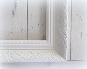 White Picture Frame Large Open Frame Shabby Cottage Ornate Baroque Wedding Photo Prop Farmhouse Gallery Wall Nursery